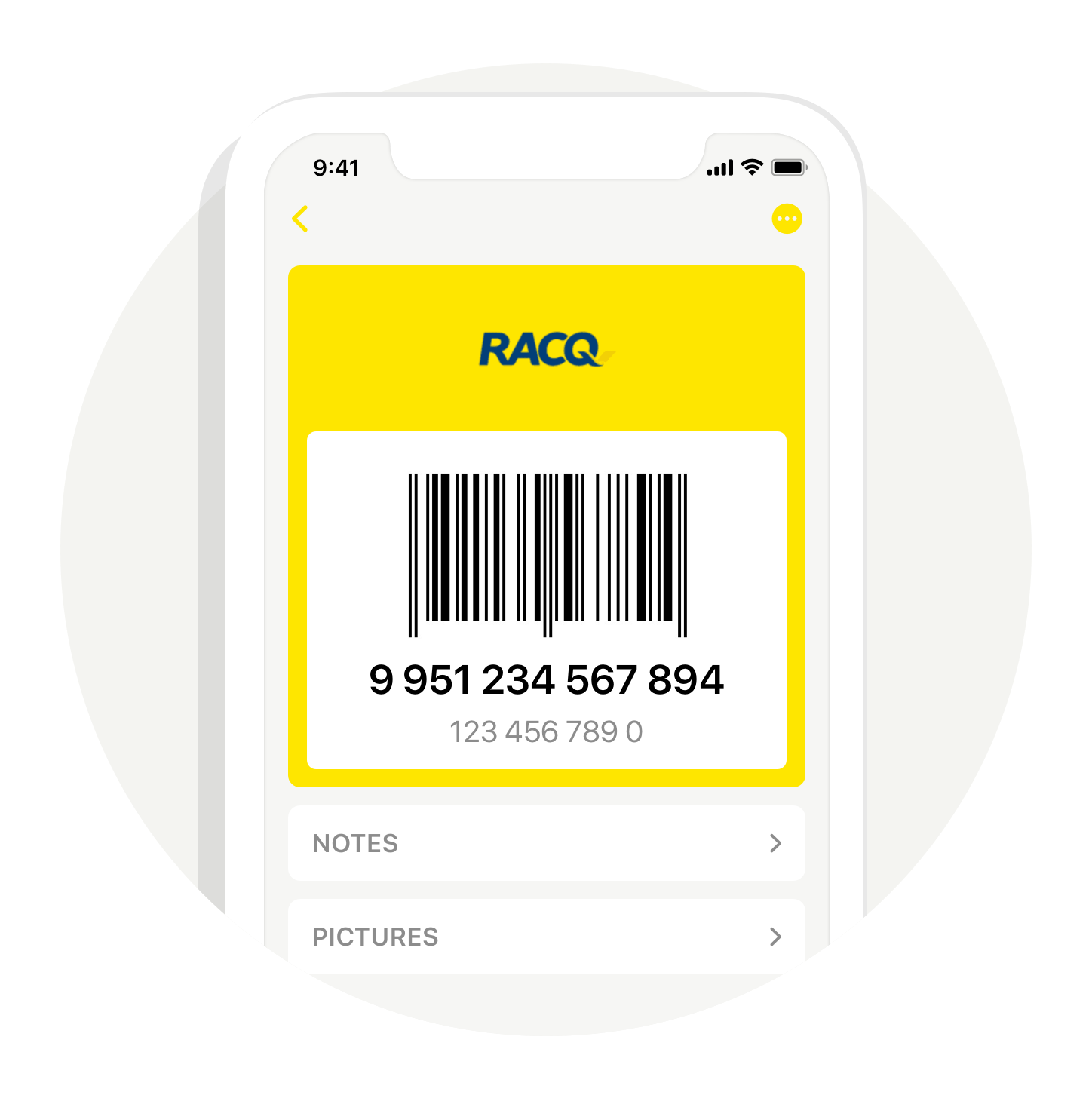 Preview image of the provider's card in the Stocard app